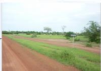 emplacement du jardin à l'entrée du village
